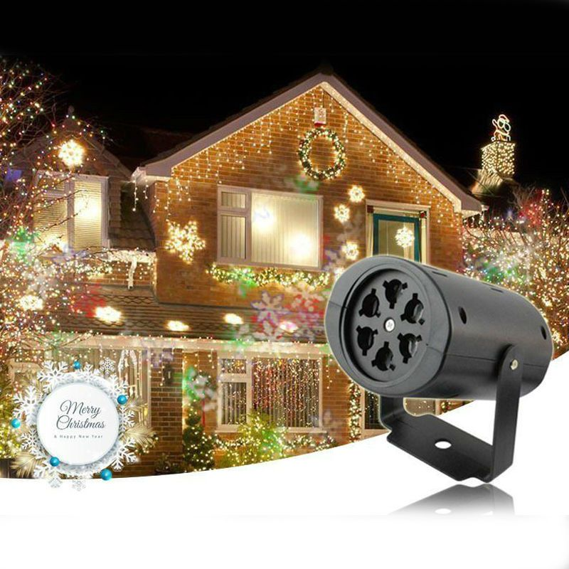 Snowflake Outdoor Moving Led Laser Light Projector Landscape Xmas Garden Lamp Xmas Lights Led Landscape Lighting Projector Wall