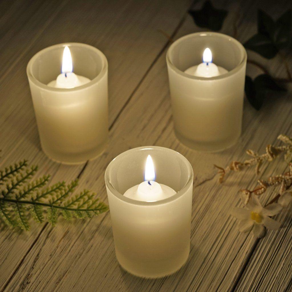 Think Positive Pink Gold Candle Holder Gift Light Glow Tealight Votive Holder