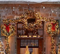 wreaths - Pottery Barn Outdoor Christmas Decorations