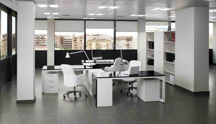 Bureau de direction en verre kalos black & white pinterest