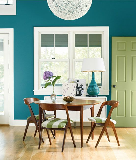 Dining room ideas inspiration blue dining rooms room for Dining room ideas teal