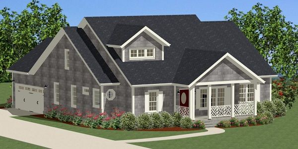 Guilford cottage 9017 3 bedrooms and 2 baths the house for Thehousedesigners com home plans