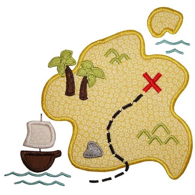 Mapa do pirata Applique