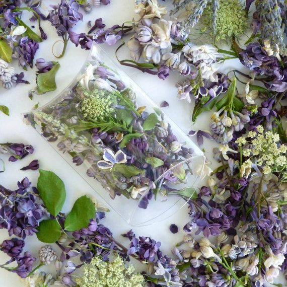Dry Flowers Wedding Confetti Craft Supplies Lilacs Lavender Petals Favor Real Flower 1 Clear Box Pre Filled With
