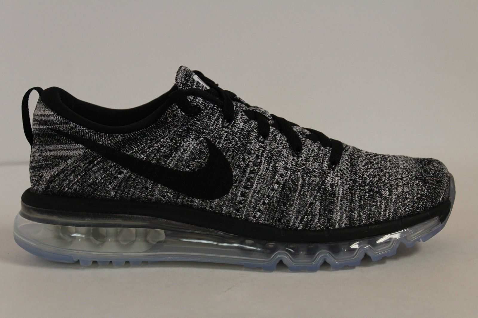 Black · Mens Nike Flyknit Air Max Oreo White Black 620469-105 Size ...