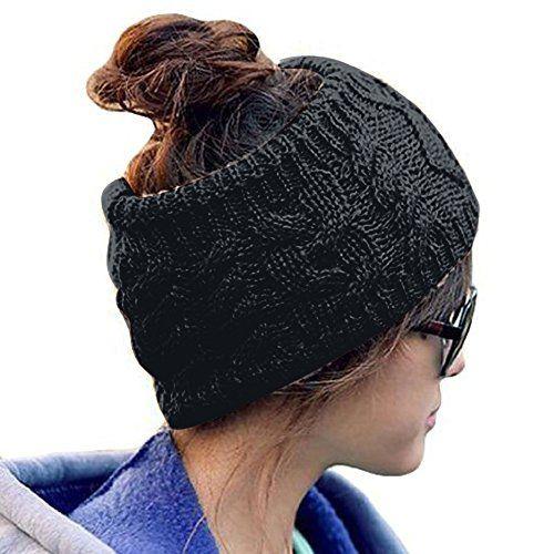 Butterme Damen Gestrickt Stirnband Winter Kopfband Haarband Häkeln ...