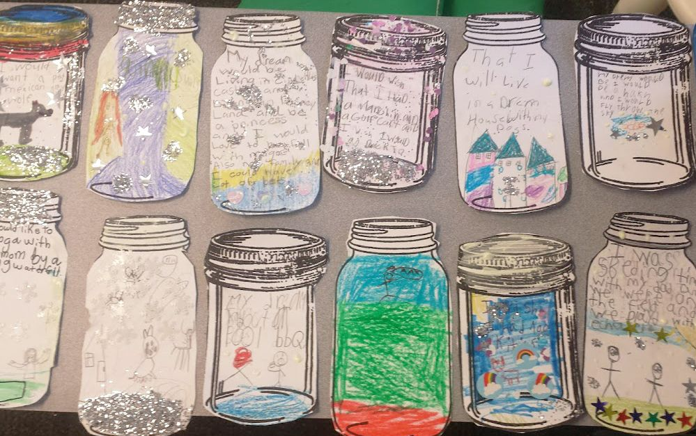 The Bfg Dream Jars Writing And Art Project Bfg Dreams Dream Jar Bfg Dream Jars