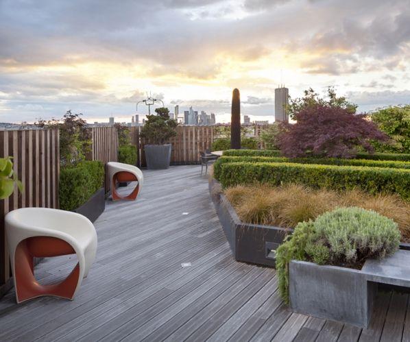 Concept d\'aménagement d\'un toit terrasse à Paris XVII   Jardins ...