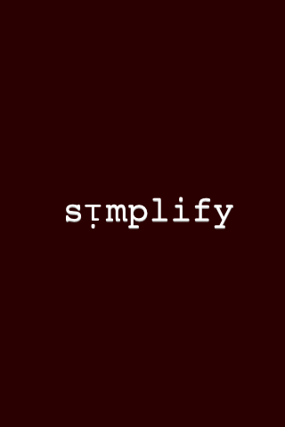 simplify & organize!!