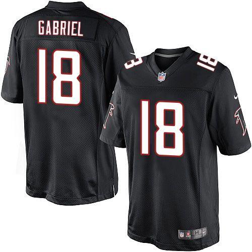 Men's Nike Atlanta Falcons #18 Taylor Gabriel Limited Black Alternate NFL Jersey