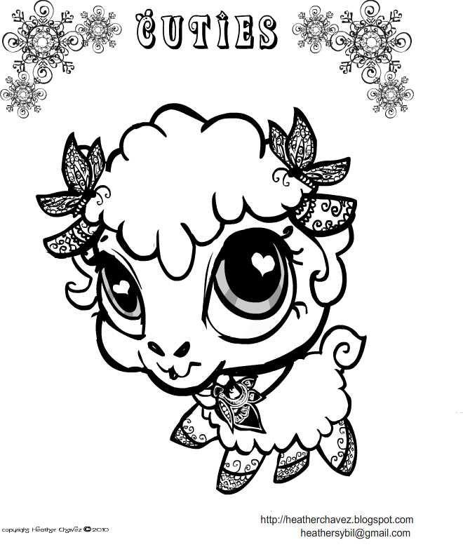 Creative Cuties Lamb Coloing Page Animal Coloring Books Animal