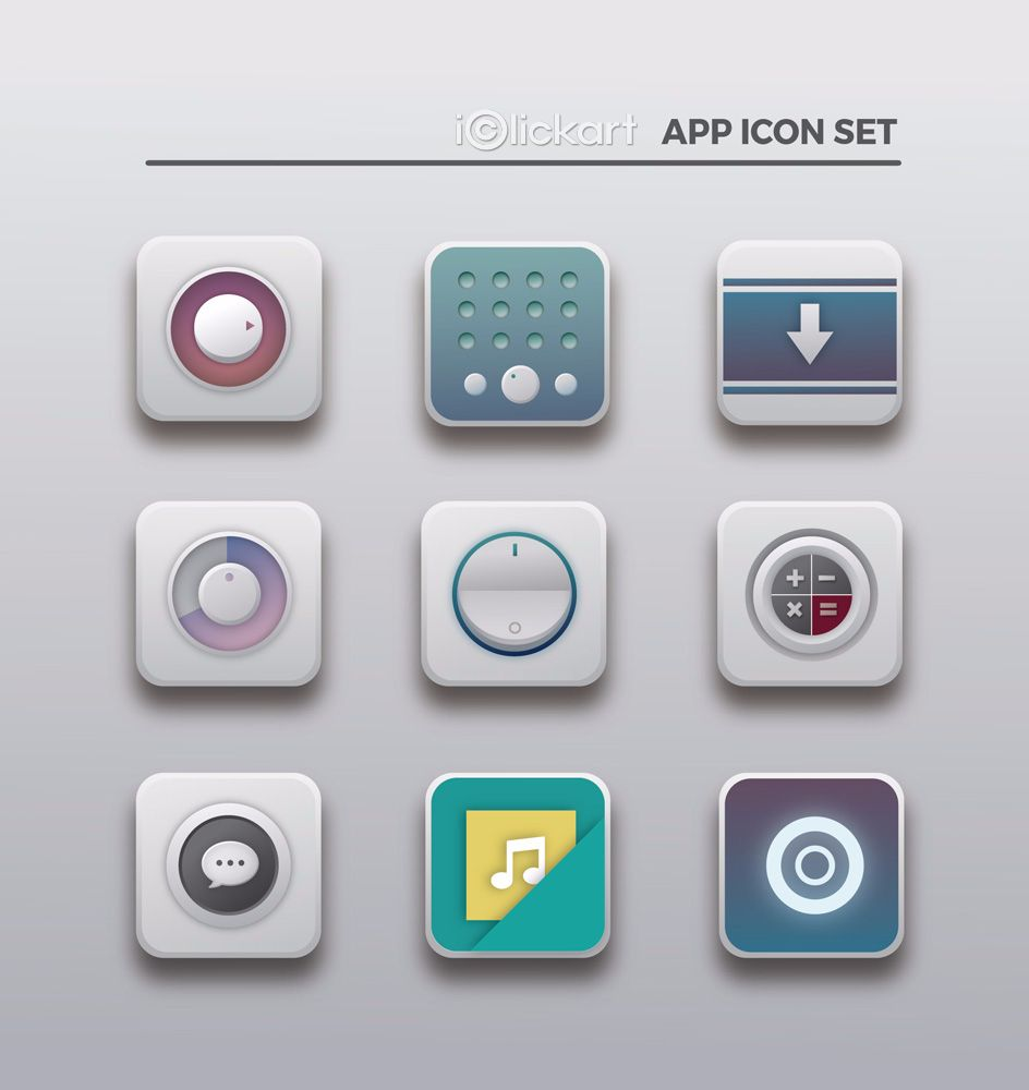 #icon #web #flat #style #mobile #IoT #button #series #stockimage #npine #iclickart