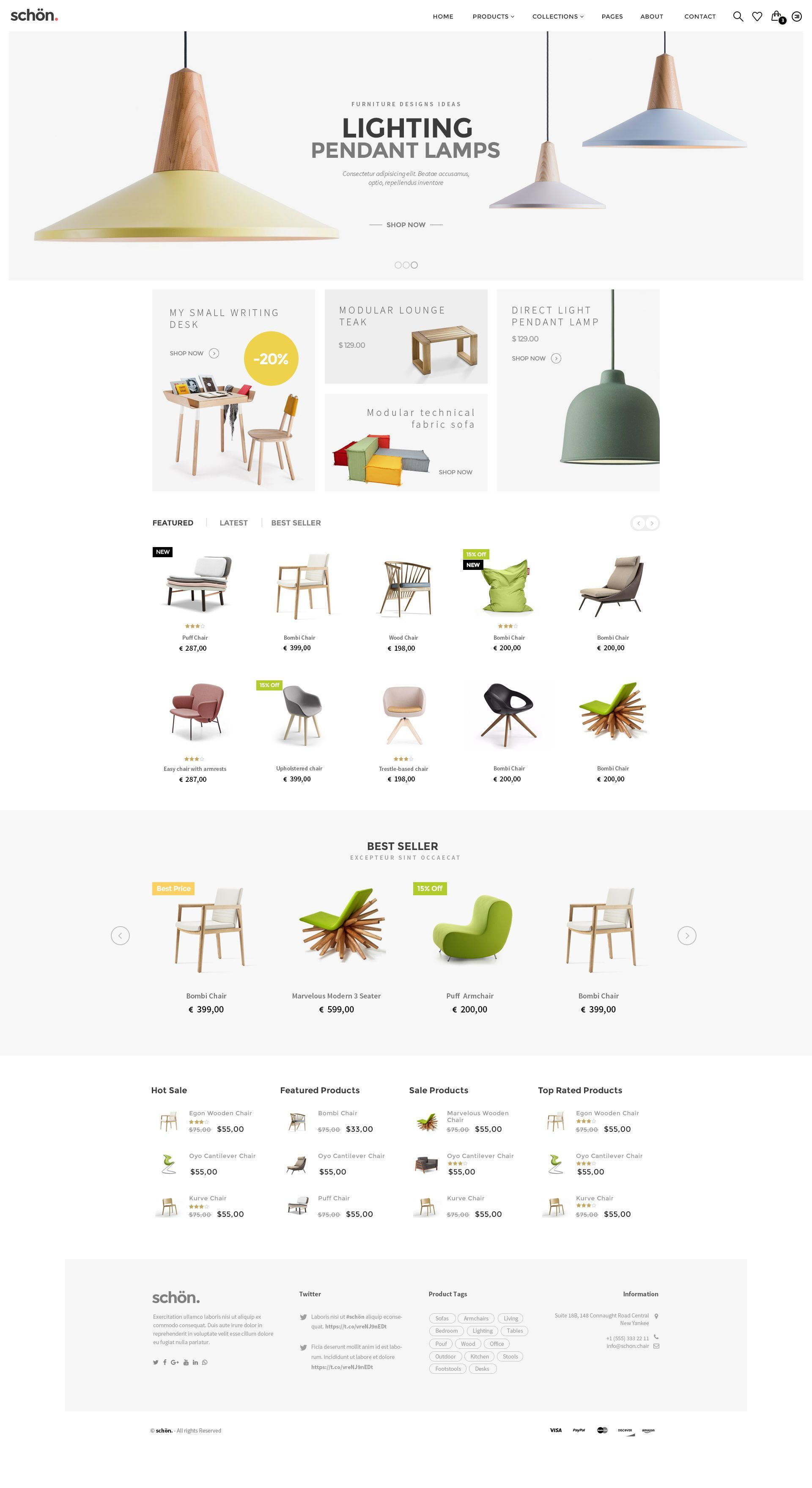 Sch n is best multipurpose psd template for amazing - Interior design shopping websites ...
