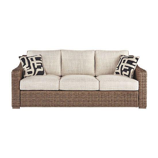 outdoorashley beachcroft patio sofa color beige