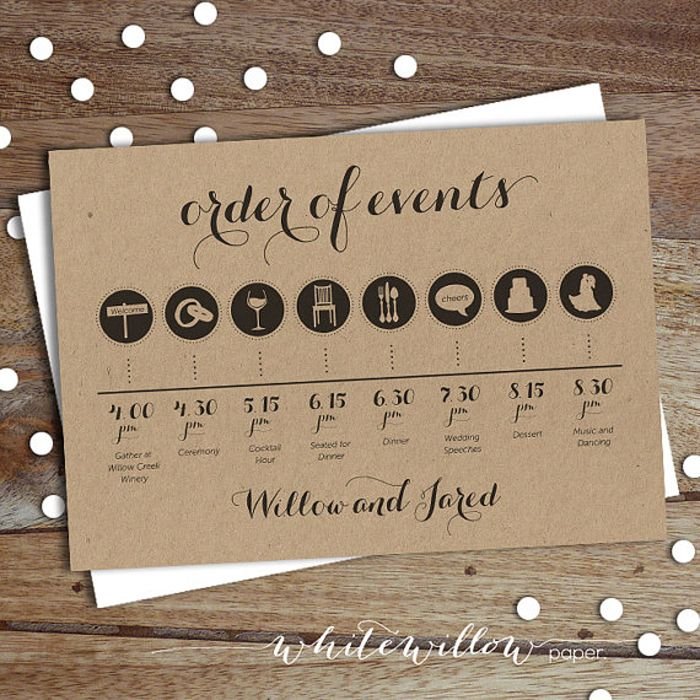 rustic wedding invitations do it yourself%0A How to create your wedding timeline  and three timeline examples   Wedding  Party