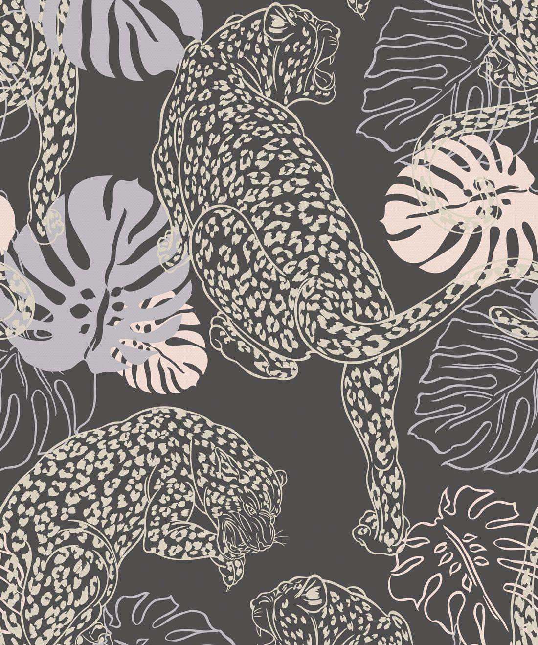 Leopard, Stunning Art Deco Inspired Wallpaper • Milton