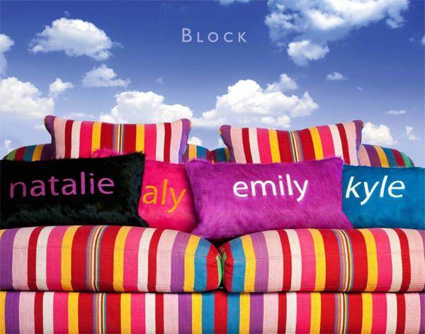 Kyle Bunting Pillows #monogram #monogrammed
