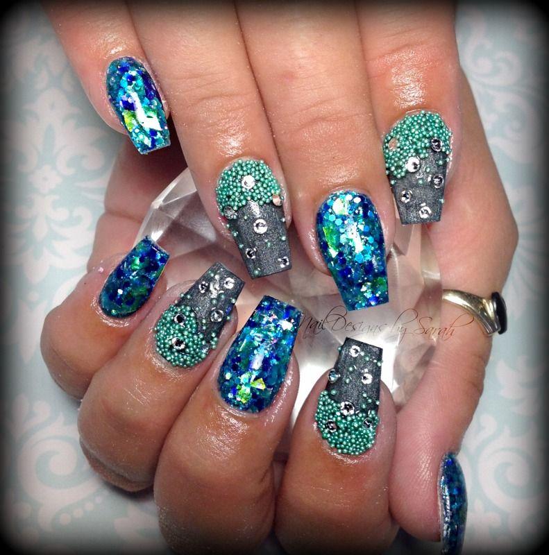 Acrylic nails by Sarah Payne | nails | Pinterest | Coffin nails ...