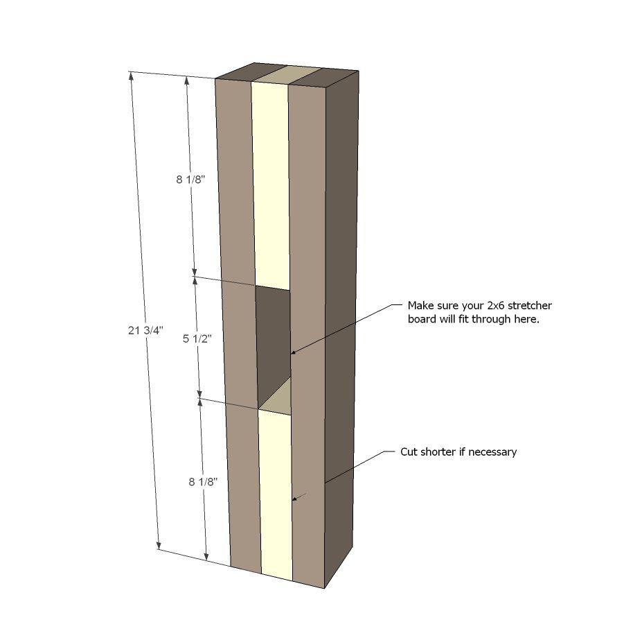 Ana White   Build a Triple Pedestal Farmhouse Table   Free ...