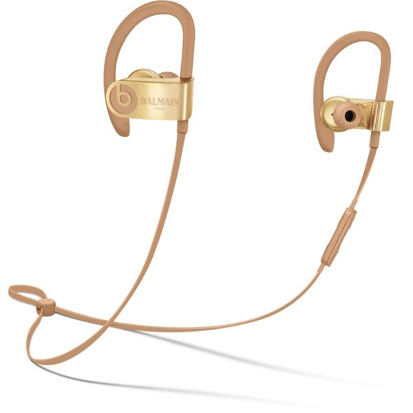 Balmain Collection Headphones & Earphones - Beats by Dre ❤ liked on Polyvore featuring accessories, tech accessories, earphones earbuds, headphones earbuds, earbud headphones, ear bud headphone and urban headphones