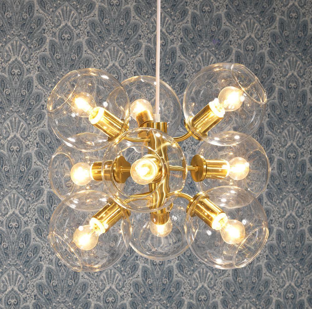 Belysning i mässing och glas från pholc. em möbler   tage ...