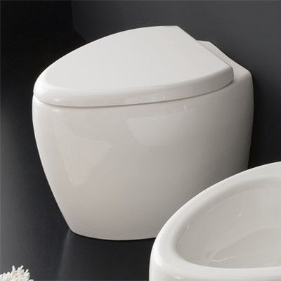 Scarabeo by Nameeks Moai Ceramic Elongated Toilet Bowl Only