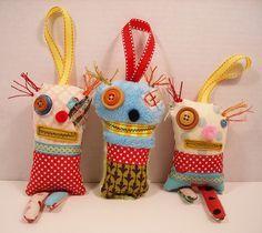 Naughty and Nice ornament Set by junkerjane, via Flickr