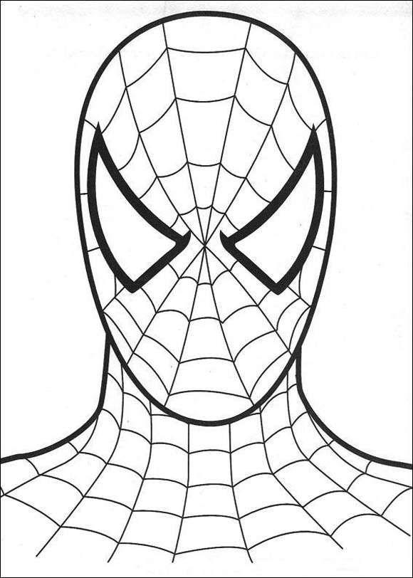 Boyama Sayfasy Spiderman Boyama Sayfasi