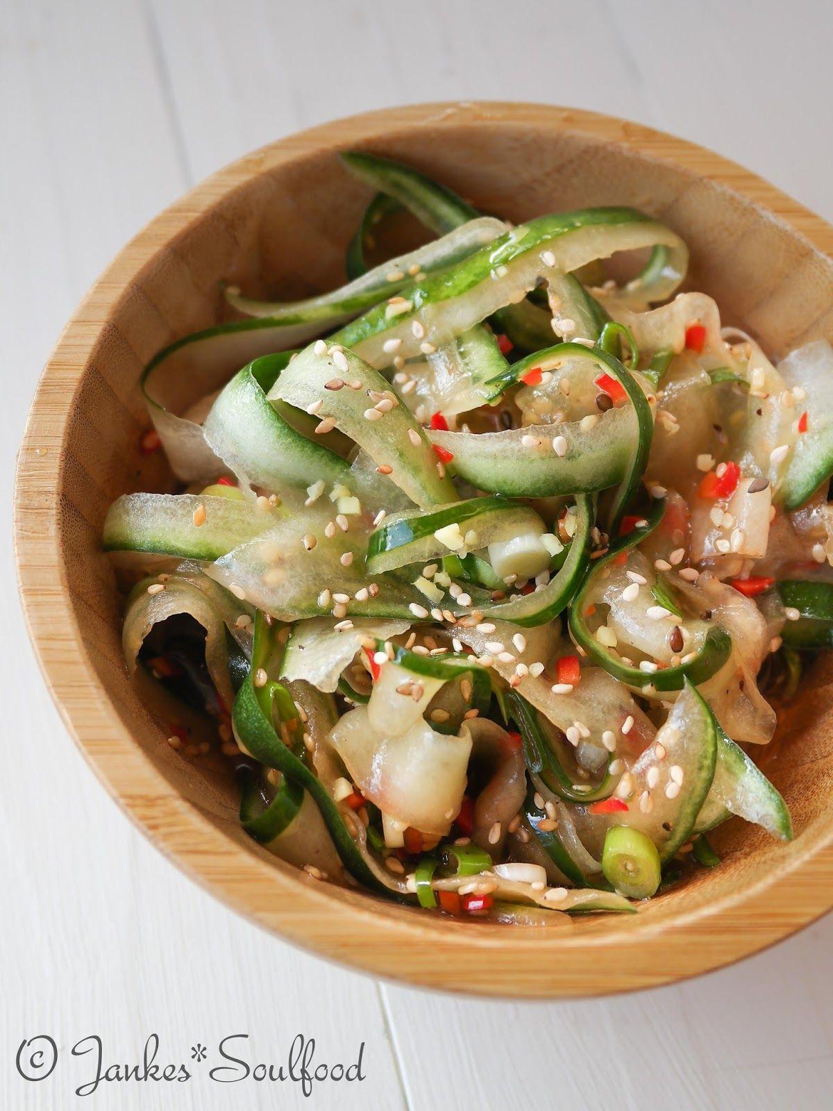 Scharfer asiatischer Gurkensalat #thaifoodrecipes