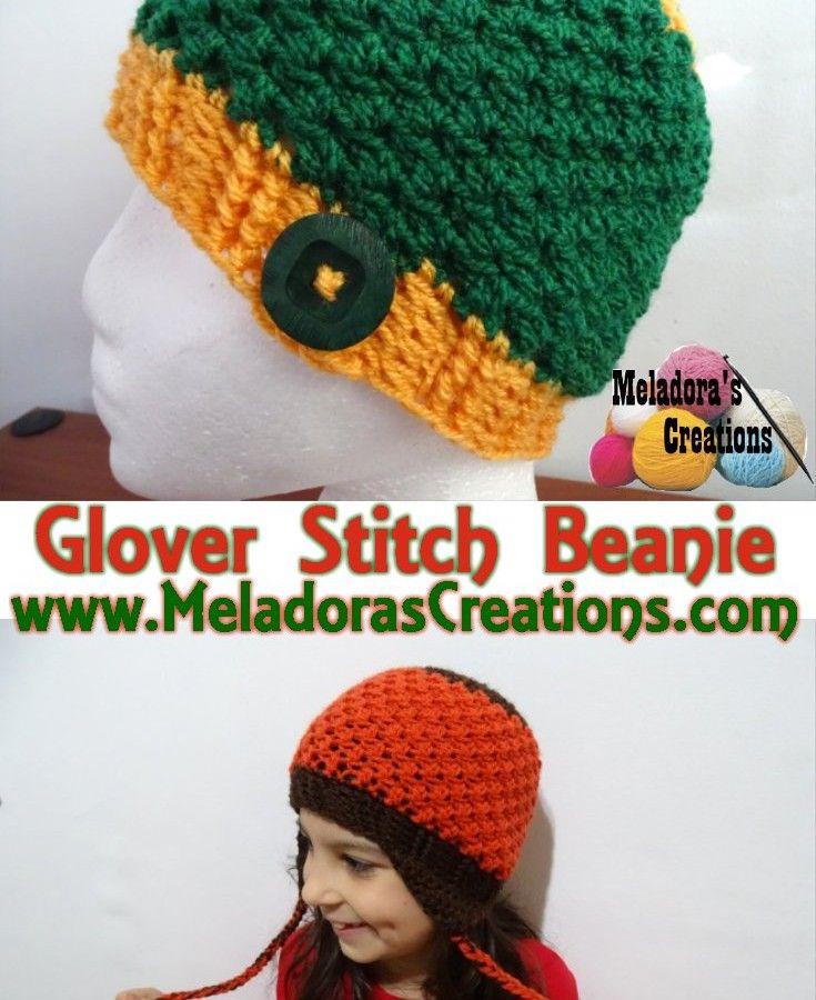 Glover Stitch Beanie - free child - adult crochet pattern plus Left ...