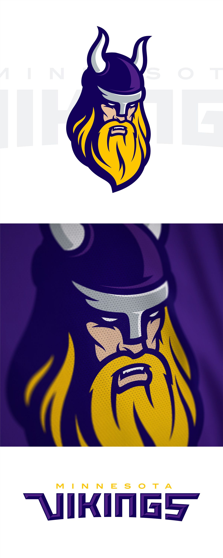Minnesota Vikings Rebrand Concept On Behance Con Immagini