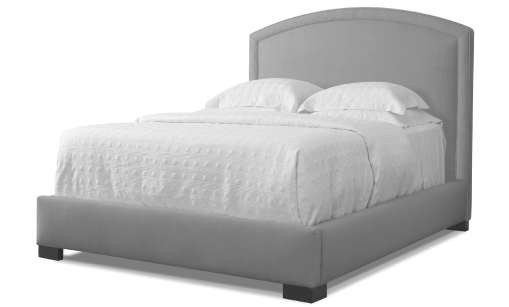 Welted Arc Headboard Bed Furniture Custom Bed