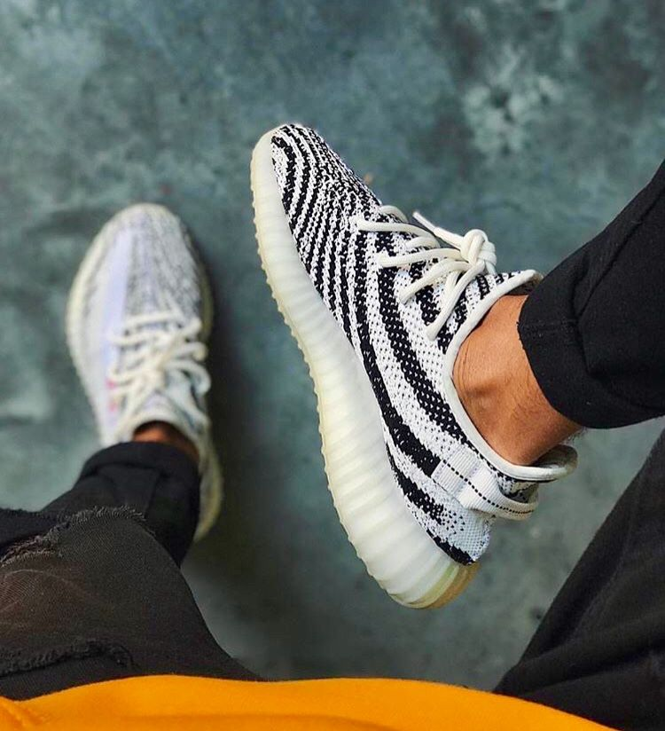 yeezy zebra hombre