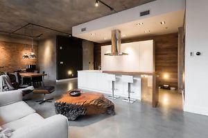 Tres Grand Loft Meuble Centre Ville Design Moderne Industriel 2 1 2 Ville De Montreal Kijiji Loft Interior Design House