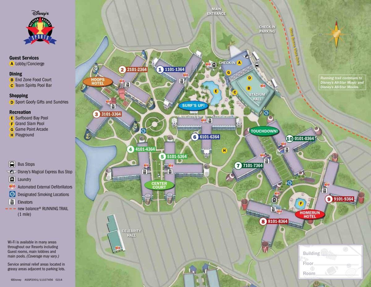 All Star Sports Resort Map Disney world map