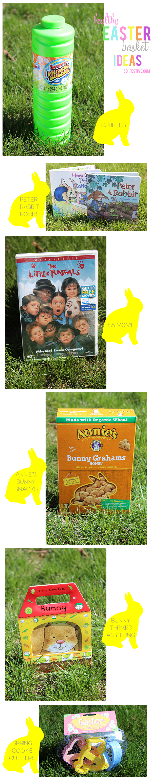 Cheap And Healthy Easter Basket Ideas For Kids. ️Bray: Make Carrots With  Annieu0027s Snacks, Sunglasses, Sunblock, Bubbles.