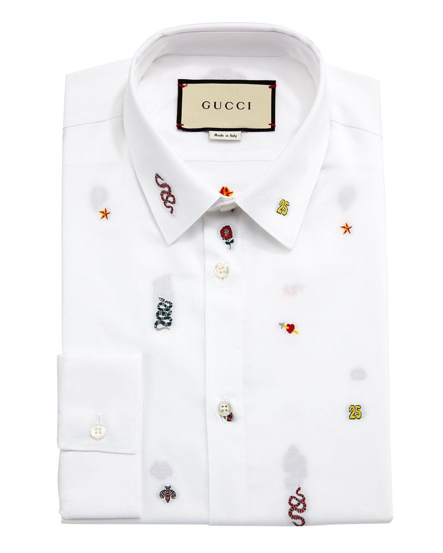 GUCCI DUKE SYMBOLS-FIL-COUP EACUTE  OXFORD SHIRT.  gucci  cloth ... 08276e5a9a1