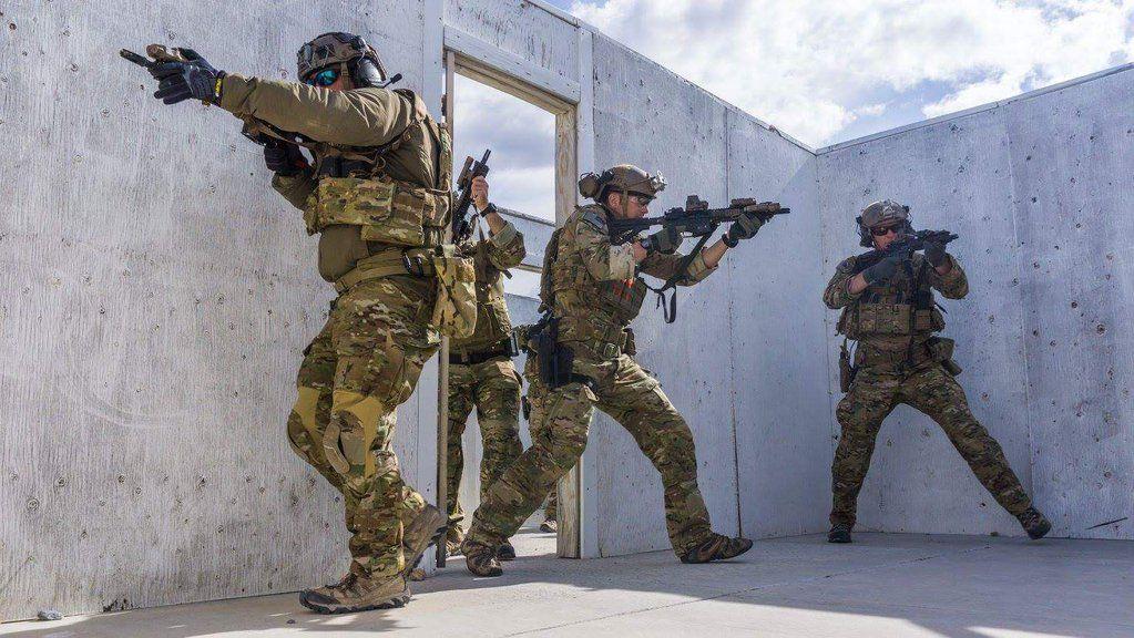 Green Berets from 3rdSFG rehearse close quarters combat