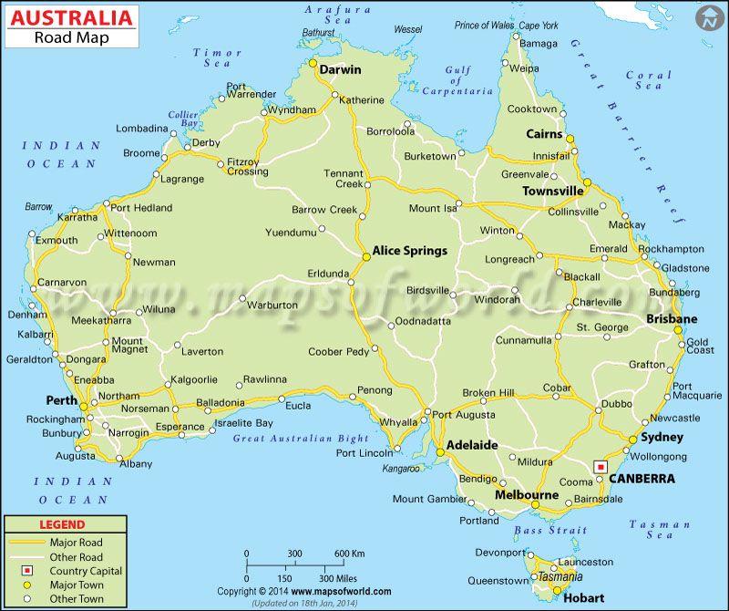 Australia Road Map Australian Road Trip Australia Map Australia