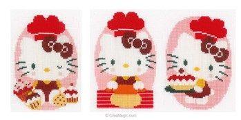 Mini kit Vervaco kitty gourmande - lot de 3