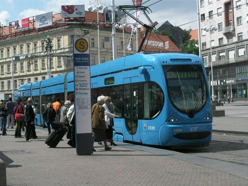 Tram In Zagreb Croacia