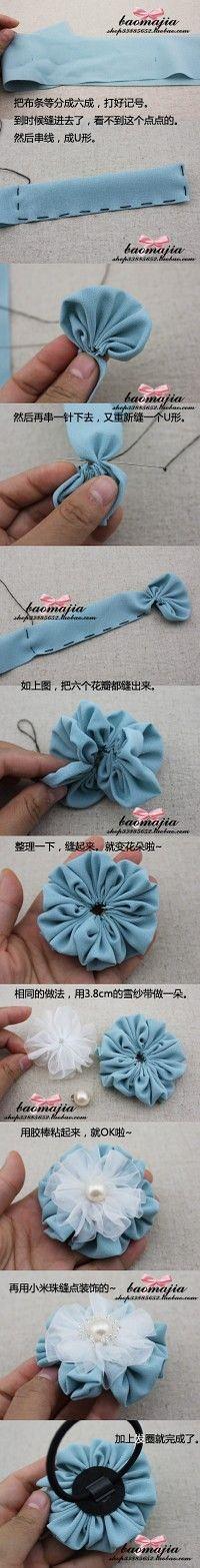 DIY fiore di stoffa