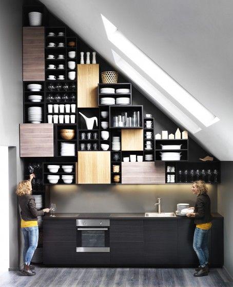Une Cuisine Sous Les Combles C Est Possible Cuisine Ikea Cuisine Metod Ikea Et Ikea