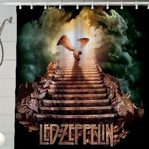 Rock Shower Curtain Led Zeppelin By ApolloCurtain 2999