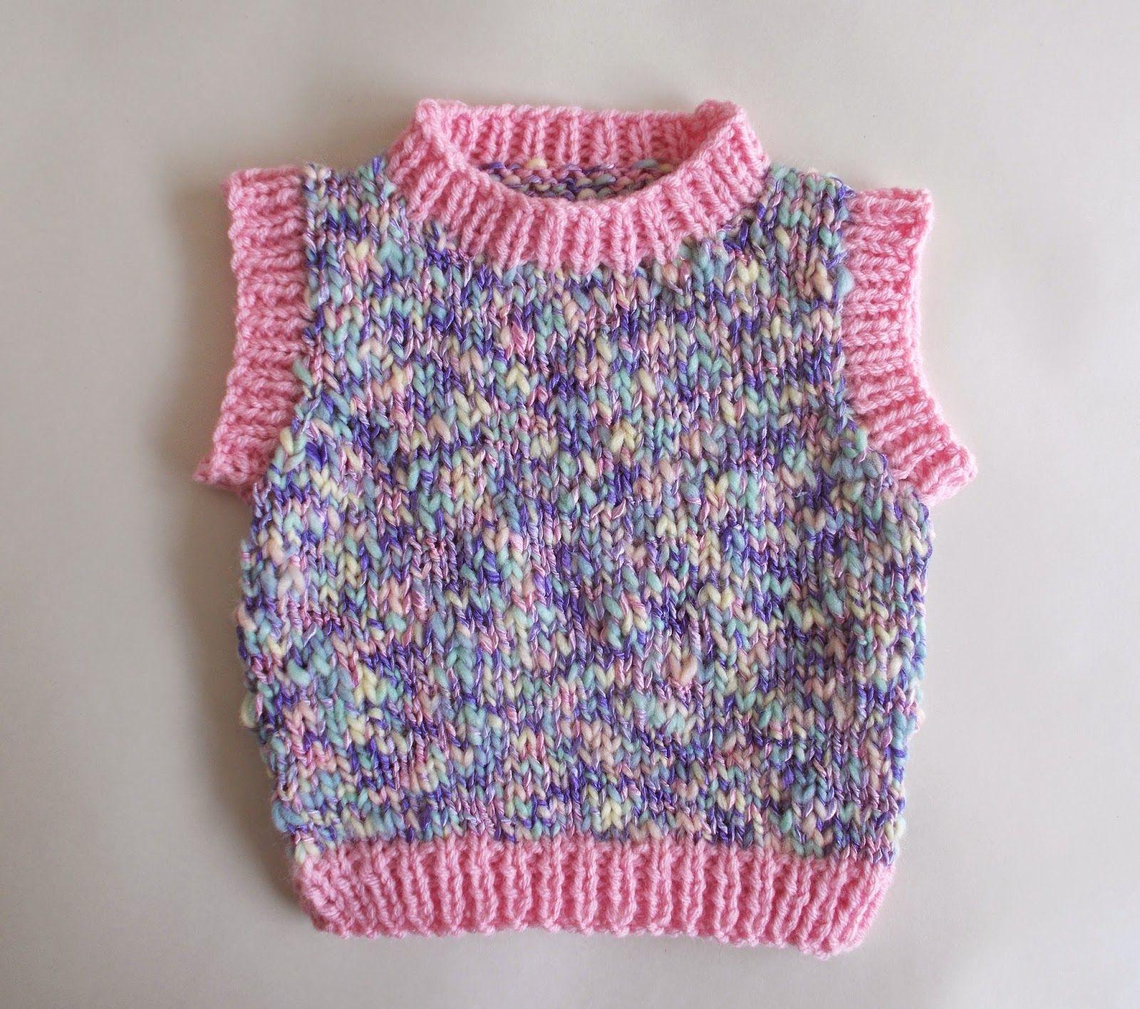 Moiselle chunky yarn sleeveless baby vest top (marianna\'s lazy daisy ...