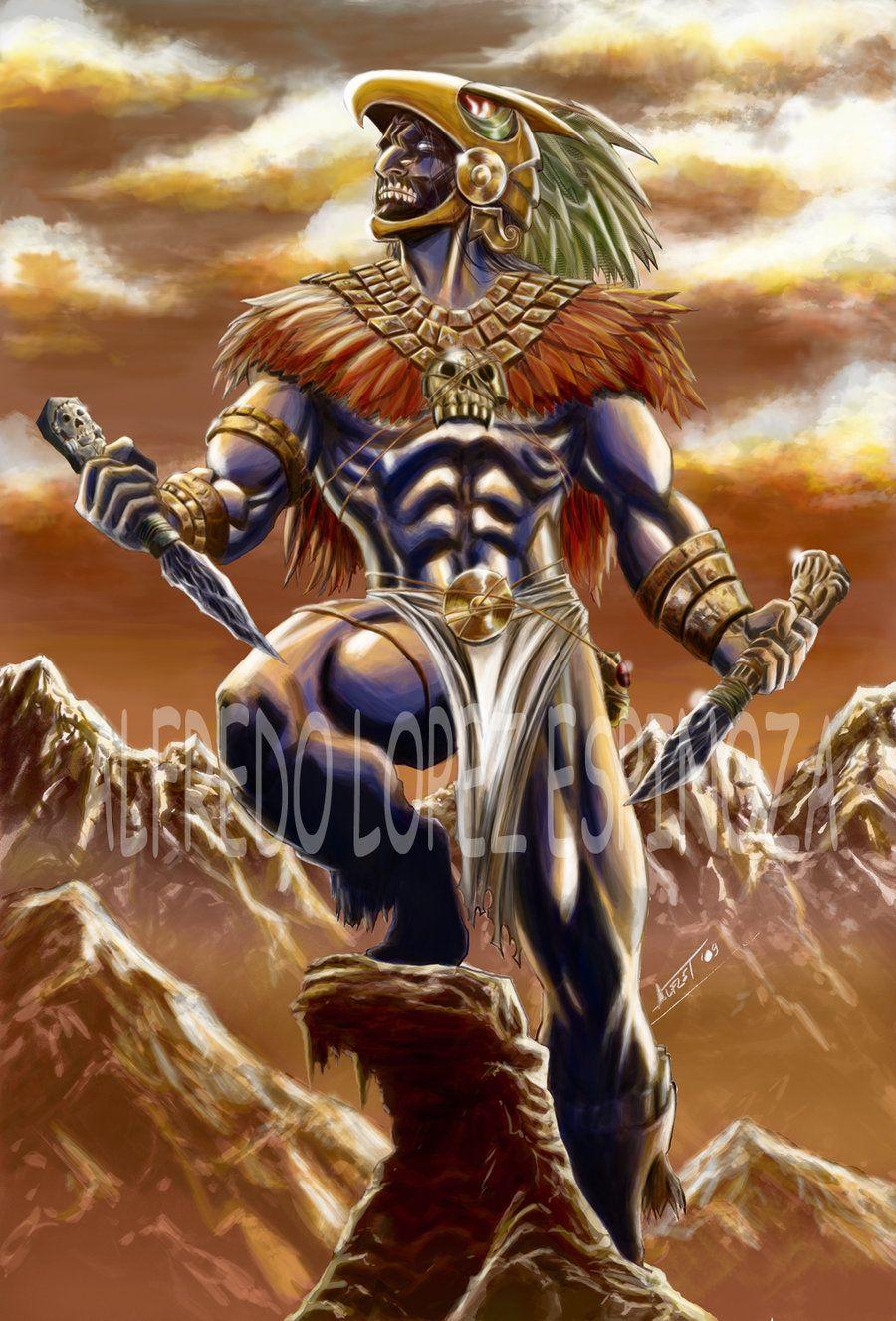 Caballero Aguila colores by alfret on DeviantArt   Aztec warrior ...