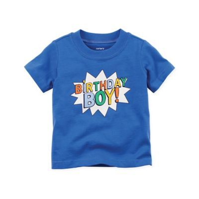 Carters Size 12M Short Sleeve 1st Birthday T Shirt In Blue