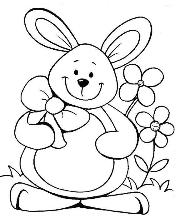 Easter color page   atividades extras   Pinterest   Canguro, Molde y ...