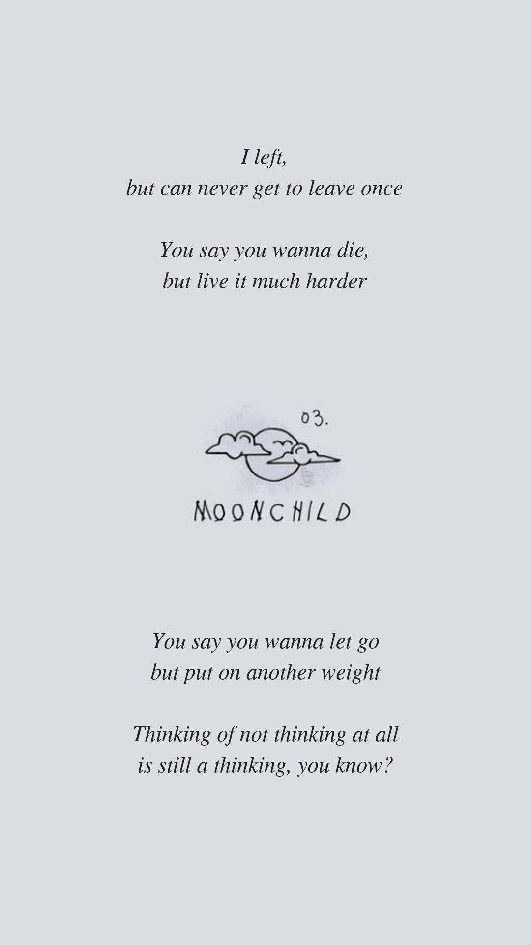 Moonchild By Bts Rm Lyrics Wallpaper Bts Lyrics Quotes Bts Lyric Bts Wallpaper Lyrics