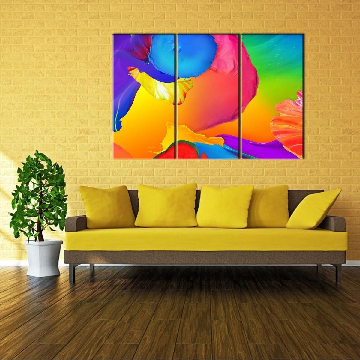 RAIN QUEEN Hand Painted Colorful Graffiti Painting Wall Art For Kids ...